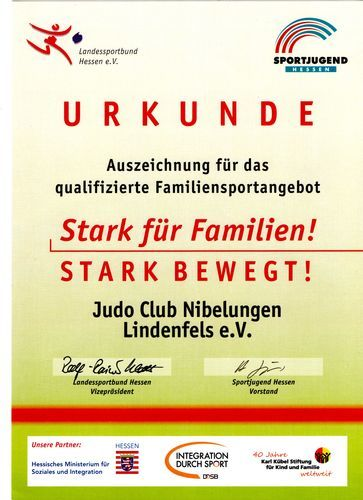 Urkunde Familienkurs
